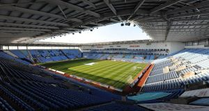 Ricoh Arena.  Photograph: Nigel French/PA Wire