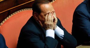A file image of  Silvio Berlusconi who has a month to  opt for either social services or house arrest.  Photograph: Reuters
