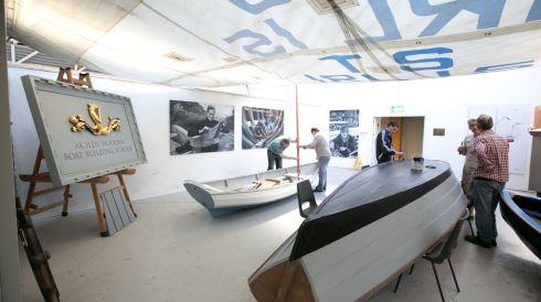 The AK ILEN Wooden Boat Building School in Limerick. Photograph: Brian Gavin Press 22