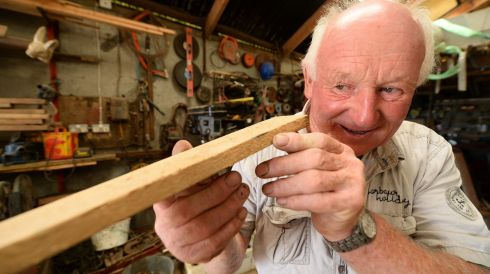 West Kerry Boat Builder Eddie Hutchison at work.  Photograph: Domnick Walsh