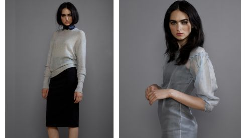 Pencil skirt, €110. Doris Day cashmere knit, €170. Hero dress, €229. lennoncourtney.com