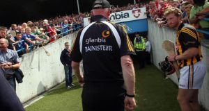 Brian Cody heads for the tunnel after the recent championship defeat to Cork at Semple Stadium. Those charged with guarding the traditions of Kilkenny hurling and plotting its future see light, however,  at the end of the tunnel. Photograph: Donall Farmer/Inpho