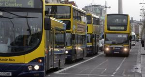 Dublin Bus is bracing itself for industrial action this weekend as drivers strike over cost saving measures at the company. Photograph: Cyril Byrne.