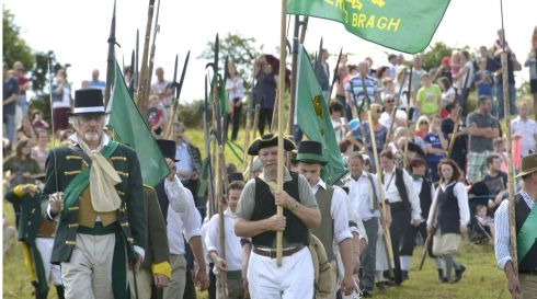 -Rebellions, Pike Men ready for battle against the Red Coats. Photograph: Brenda Fitzsimons/The Irish Times