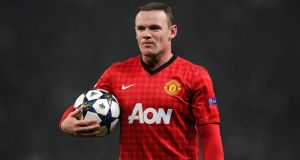 A second bid of around €35m for  Wayne Rooney has been turned down by Manchester United. Photograph: Martin Rickett/PA Wire.