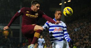 Loic Remy (right) is expected to leave  QPR for a loan move to Newcastle United.  Photograph:  Mike Hewitt/Getty Images