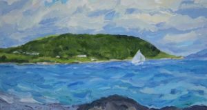 Half a world away: Michael Viney's painting of Old Head Bay for the Henaghans