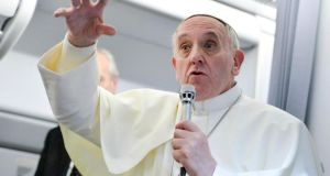 Irish gay group praises Pope Francis's airborne comments