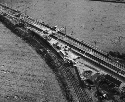 An aerial view of the Glasgow to London travelling post office (TPO) train near Bridego Railway Bridge in Buckinghamshire, England, after the £2.6 million pound 'Great Train Robbery', August 1963. Photograph: Evening Standard/Hulton Archive/Getty Images