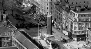 'Dennis Kennedy laments the republican destruction of the statue, and half the supporting column, in 1966. His regret is part nostalgia. He's one of a generation who climbed it – first, in his case, as a schoolboy in 1946 – and for whom it was Dublin's centre.'  Photograph: Dermot O'Shea