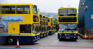 Bus services recommenced in the capital today following the intervention of the Labour Court yesterday afternoon. Photograph: Aidan Crawley/The Irish Times