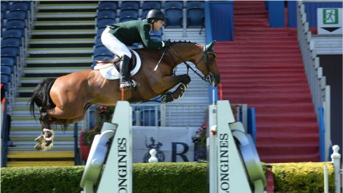 Irish competitor Cian O Connor on Blue Loyd during the Speed Stakes International Competition.