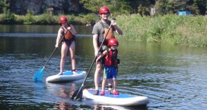 Paddle-boarding on the Barrow at Graignamanagh with PureAdventure.ie is a great experience for all fitness levels