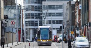 The plan sees the Luas cross-city link opening before the end of 2017 and additional tram capacity, in the form of longer trams or more trams. Photograph: Bryan O'Brien.