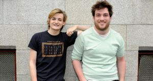 Jack Gleeson (left) and Matt Smyth met in West Side Story. PHOTOGRAPH: DAVE MEEHAN