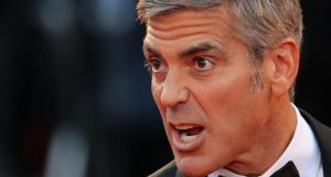 George Clooney: 'If guys like this are given any weight because they've bought stock, this does great damage.' Photograph: Gareth Cattermole/Getty