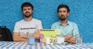 "DabbledooMusic founders Killian Redmond and Shane McKenna. Potential crowdfunding investors ""just want to see if it's a good idea or not"", says McKenna."
