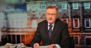 Presenter Sean O'Rourke said he was 'excited' at the prospect of taking over from Pat Kenny. Photograph: Eric Luke/Irish Times