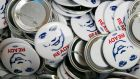 "2016 campaign badges at the Buttons at the Ready for Hillary office in Alexandria, Virginia. ""She is supposed to be resting and off making $200,000 speeches, but instead she's around every political corner."" Photograph: Drew Angerer/The New York Times"