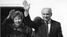 'I hope when you see Gorbachev at Shannon you will urge him to support efforts to bring peace to the region'