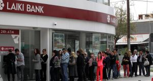 Large depositors were hit in Cyprus and European leaders have since agreed that large-scale depositors should bear part of the burden in any future bank failures under a tighter banking union