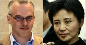 British businessman Nick Heywood and Gu Kailai, who is serving a life sentence for his murder in November 2011. Photograph: Reuters
