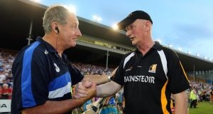 Waterford manager Michael Ryan with Kilkenny's Brian Cody after the county's qualifier exit. Photograph: Lorraine O'Sullivan/Inpho