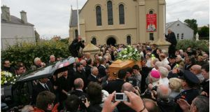 "The funeral of Ronnie Drew in  2008. One angry letter writer to The Irish Times was enraged ""to see that Ronnie Drew had a 'send-off' like no other, complete with a congregational rendering of Weela Weela Wallia"". Photograph: Bryan O'Brien"