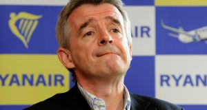Michael O'Leary today said that airline Ryanair does not have a policy of deleting cockpit voice recordings. Photograph: Dave Meehan