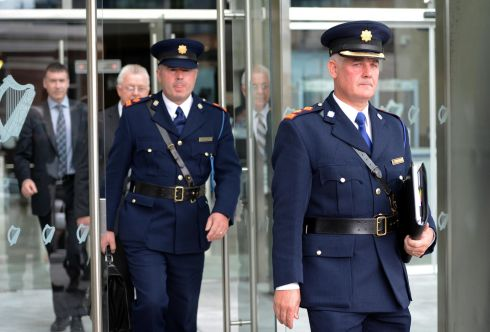 Chief Supt Dave Sheahan (right) and Supt Dan Keane leaving  the Special Criminal Court, after John Dundon was sentenced to life in prison for the murder of rugby player Shane Geoghegan. Photograph: Eric Luke/The Irish Times