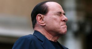 Former Italian prime minister Silvio Berlusconi  recently received a four-year prison sentence and a ban from public office for tax fraud. Photograph: Alessandro Bianchi/Reuters