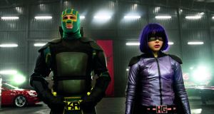 Belle of the ballbreakers: Aaron Taylor-Johnson and Chloë  Grace Moretz in Kick-Ass 2