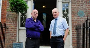 'One earwig recognises another': friends Kevin Whelan (left) and Tim O'Connor Photograph: Aidan Crawley