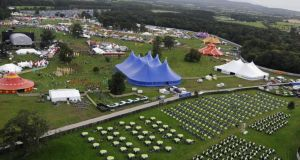 Aerial view of the Electric Picnic festival. Photograph: Dave Meehan
