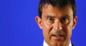 French interior minister Manuel Valls. Photograph: Reuters