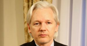 Independent TDs Mick Wallace and Clare Daly met Wikileaks founder Julian Assange (above) for two hours yesterday in the Ecuadorean embassy in London. Photograph: Sunshine Press Productions/Handout via Reuters