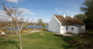 Lake view: Pádraig Pearse's cottage overlooking Loch Oiriúlach. Photograph: Seán Mannion/Connemara Light