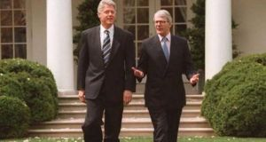 "When then US president Bill Clinton (left) decided to issue a visa to Sinn Féin president Gerry Adams in 1994, then British prime minister John Major (right) would not speak to him and  ""the British were incandescent with rage"",  former Irish diplomat Sean Donlon said."