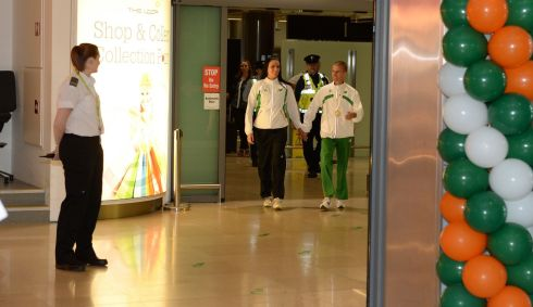 Rob Heffernan and his wife Marian arriving home. Photograph: Frank Miller/The Irish Times
