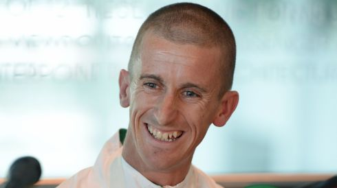 Rob Heffernan during a press conference at Dublin Airport. Photograph: Frank Miller/The Irish Times