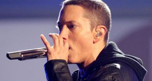 Eminem aka Marshall Mathers: Commanded the stage at Slane Castle.