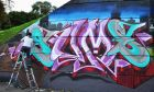 Know your art from your elbow: graffiti by Sums at this year's Bridge Jam street-art festival in Drogheda, Co Louth