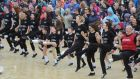 The Children in Crossfire charity attempt on the  World Riverdance record, in  which  2,569 dancers took part. Photograph: Trevor McBride