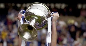 Monaghan are the fancy of many to lift the Brendan Martin Cup (above) in September