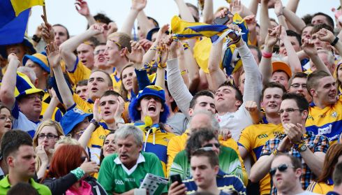 Clare fans celebrate their victory.  Photograph: Alan Betson/The Irish Times