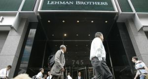 September 2008 will remain long in the mind, not just for the collapse of Lehman Brothers but also because of the crisis in the Irish banking system. Photograph: Mary Altaffer/AP