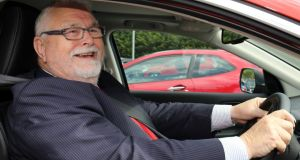 Lord Maginnis, arrives at Dungannon court house. The House of Lords peer has been convicted of assaulting a motorist in a road rage incident in Northern Ireland. Photograph: PA