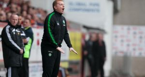 Celtic manager Neil Lennon saw his side lose 2-0 in Astana. Photograph: Chris Clark/PA