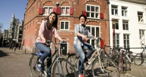 Increasingly popular with Irish students are the liberal arts and sciences degrees offered by leading Dutch universities: seven Dutch universities are ranked higher than Trinity College. Photograph: University of Amsterdam