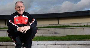 "Tyrone manager Mickey Harte: ""I would defy anybody to stand up and say that I told them to foul."" Photograph: Inpho."